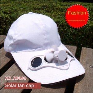 protezione solare ventilatore solare protezione solare Fan cap protezione solare del sole della protezione cappello solare pubblicità uomini e donne SolarFanCap