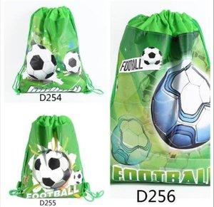 Children's football beam pocket double-sided non-woven fabric printing drawstring bag school bag children's gifts Children Backpacks