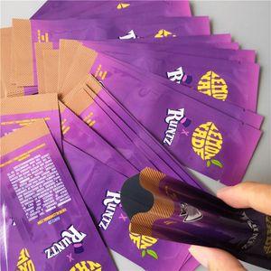 Runtz Packaging Bag 35 Mylar Odore Proof Zipper richiudibile secco olografico Cali Plug Carrelli Arcobaleno Ziplock bwkf BDkEJ