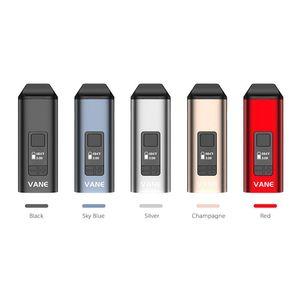 100% Authentic Yocan Vane Dry Herb Vaporizer Kit OLED Display Ceramic Chamber 1100mah Vape Pen 5 Colors DHL Free