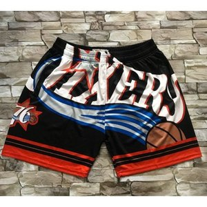 jerseys basketball jerseys Mitchell&ness pocket pants ball pants Cheap stitched Basketball jerseys