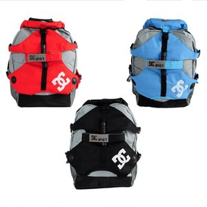 DC bag backpack Outdoor sports Skating skating shoes shoes roller skates adult men's and women's wheelbarrow sports Outdoor