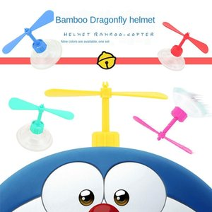 3c9J6 Toy Electric vehicle propeller helmet bamboo dragonfly sucker bamboo dragonfly electric vehicle ornament rotating windmill propeller d