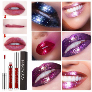 Glitter Liquid Lipstick Sparkle Lipgloss Glitter Flip Lipstick Gliter Shiny Lip Gloss Waterproof Long Lasting Makeup