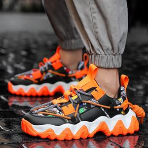 2020 Neue Basketballschuhe stoßabsorbierenden leichte Turnschuhe Männer Schuhe atmungsaktiv neuen Kalt Stick Dick besohlt Farbe Turnschuhe