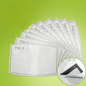 PM2.5 Filter Pad For Mask Anti Haze Mask Pad Replaceable Filter-slice 5Layers Non-woven Activated Carbon Filter Face Mask Gasket