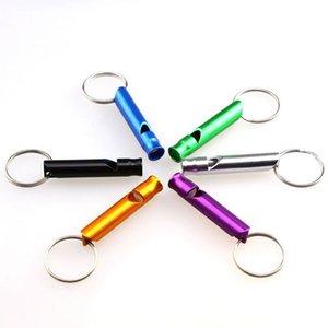 Mini-Aluminium-Pfeife Keychain Hunde Trainings Keychain Pfeife im Freien wandernden beweglichen Überleben Kleiner Pfeife-Schlüsselring BWE421