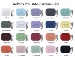 DHL 100pcs 2 en 1 para Apple Airpods Los casos de silicona suave ultra fino de la cubierta del protector AirPod timbaúva Caso anti-caída con gancho caja al por menor