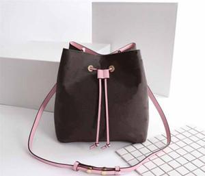 2020 NOE NOE M44020 kadın moda kılıf tarzı çiçek deseni bayanlar çanta çanta hakiki deri klasik cüzdanlar çanta kova