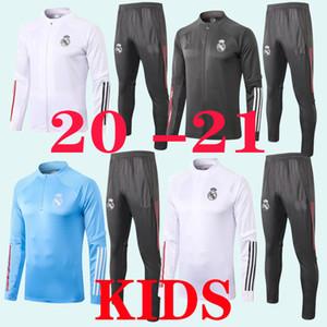 2020 2021 Real Madrid Enfants Tracksuit Ensole de formation Veste de Football Chandal 20 21 Hazard Asensio Isco Youth Boys Suisse Real Madrid