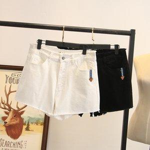 X1zzy Aggiunto Shorts grasso hot pants e lana casuali delle donne di dimensioni allargate bicchierini del denim alla moda 200 jin grasso MM nuovi hot pants moda 3