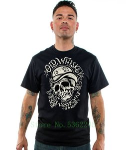 Authentic Lucky 13 Old Whiskey Short Sleeve Rockabilly T-Shirt S-5xl New High Quality Print O-Neck Fashion Casual T Shirt