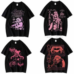 Hip Hop y2k 1of1 calle camisa estética hip-hop Rock Rap Camiseta gótica T200728