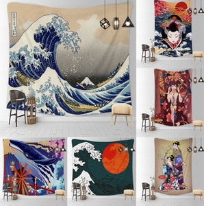 The latest Japanese style 150X200CM a variety of sizes, 10 styles to choose, cover blanket wall hanging beach mat hanging cloth cartoon tape