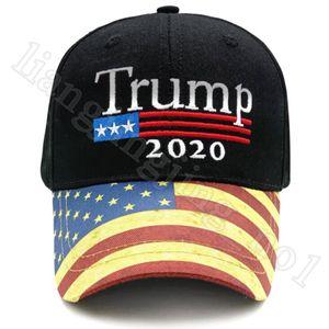 Trump 2020 Hat USA Flag Baseball Cap Men Women Snapback Hats Embroidery Bone Unisex Trump Snapback Caps Party Hats OOA8199