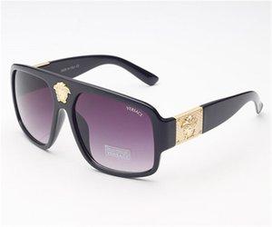 Qualitäts-Art- und Designer-Sonnenbrillen Full Frame Sonnenbrillen Metall ultraleichter Rahmen UV-Schutz-Gläser für Männer Frauen VERSACE