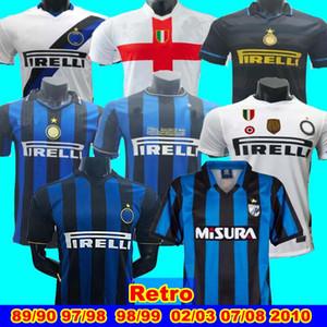 Finale 2010 MILITO SNEIJDER J.ZANETTI Retro Fußball Jersey SIMEONE 89 90 MILAN Retro 02 03 06 07 97 98 99 Djorkaeff Baggio RONALDO Inter