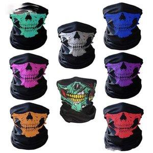 Skull Face Mask Halloween Skull Bandana Bike Helmet Neck Face Mask Scarves Gloves & Wraps Paintball Sport Cycling Headband Scarf