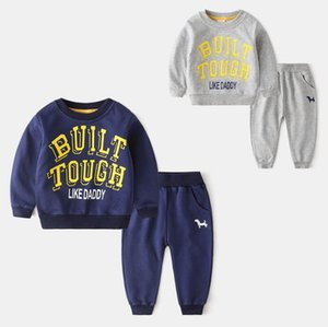 Children's suit wholesale boy autumn two piece set pop bar sweater pants set sports children's clothing autumn fashion wholesale size 90-130