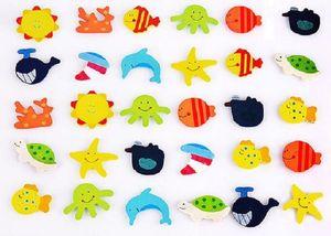 legno Colore Frigorifero sveglio del fumetto autoadesivo del magnete di legno del frigorifero del magnete del messaggio per bambini clip
