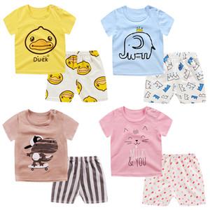 2020 Дети Пижама Набор детей Baby Girl Boy животных мультфильм Повседневная одежда костюм с коротким рукавом детей пижамы пижамы наборы