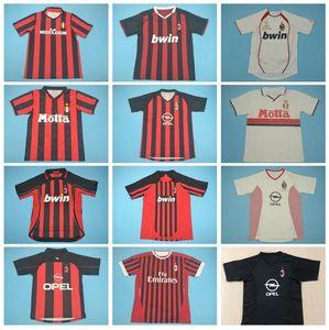 2004 2005 2007 2009 2011 AC Milan Vinatge Futebol Gullit Retro Jersey MALDINI INZAGHI RONALDO BAGGIO Boban BARESI WEAH Futebol shirt Kits