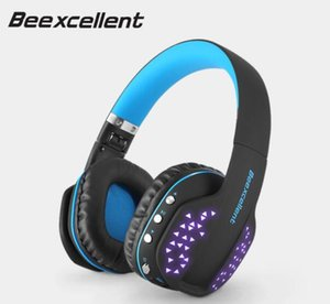 Beexcellent Q2 Wireless Bluetooth Headphones Foldable HiFi Stereo Headset with Microphone LED Light Handsfree for Phones PC PS4 1pcs