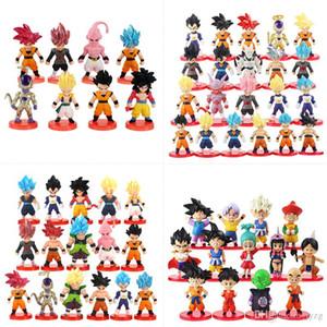 8-13-16-21pcs / Set de Super Dragon Ball Son Goku Freezer Trunks Beerus acción del PVC Figuras anime Dragon Ball Z Figurita modelo de juguete