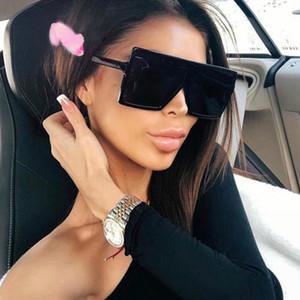 المتضخم الإطار النظارات الشمسية ساحة المرأة نظارات شمسية أنثى نظارات نظارات البلاستيك واضح عدسة UV400 الظل موضة النظارات الشمسية الجديدة لتعليم قيادة السيارات