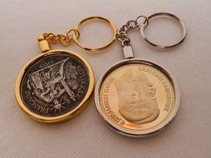 Colar / Moldura Cadeia Nova moeda desafio titular Coin gancho pingente chaveiro bRhw #