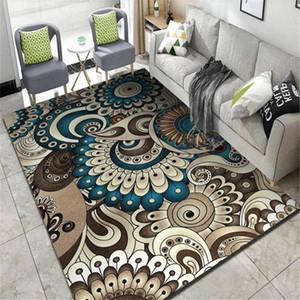 Padrão Wishstar Azul Castanho Sala de Estar Tapete geométrico Vintage Retângulo Bohemian Rug Quarto Mat Kitchen Rug Tapete Corredor Naih #