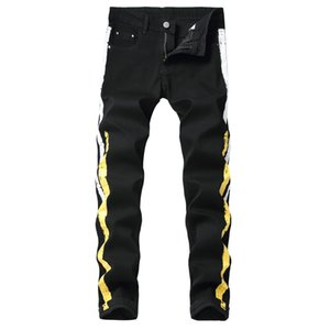 Designer Mens Jeans Pants Fashion Casual Mens Black Jeans with Printed 2020 New Arrival High Quality Pants Size 28-42