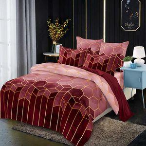 LOVINSUNSHINE Geometria stampa Comforter Bedding copertina regina copripiumino Re CV01 #