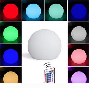 BRELONG قابلة للشحن اللون LED الكرة ضوء كروية الكرة الخفيفة مع جهاز التحكم عن بعد، بحمام حزب عكس الضوء ليلة الخفيفة 12CM