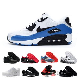 2019 New 90 Trainer Shoes Classic Men Women Cheap 90 Sports Shoes Black Red White Air Cushion Designers Air90 Sneakers G8T7N