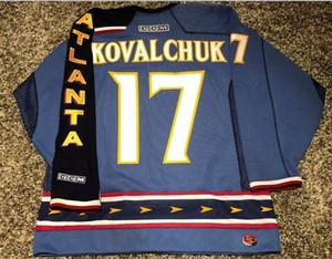 las mujeres de Hombres jóvenes Vintage # 17 Ilya Kovalchuk Atlanta Thrashers M Jersey del hockey del tamaño S-5XL o costumbre cualquier nombre o un número
