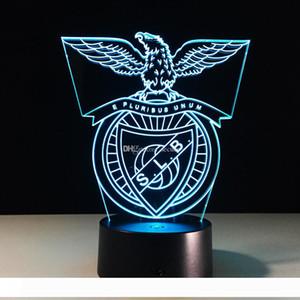 2017 3D Football SLB Night Lamp 3D RGB Colorful Optical Lamp Battery DC 5V Wholesale Dropshipping Free Shipping