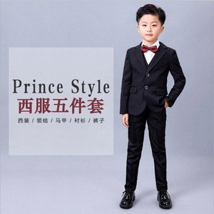 Boys Suits For Weddings Kids Prom Costume Blazers Pants Shirt Tie 8pcs Children School Clothing Set tuxedos birthday party suits bDV1#
