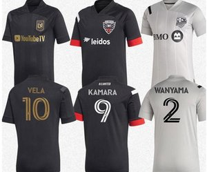 Номер 20-21 LAFC # 10 VELA футбол Джерси 20 мужчин DC United # 9 Камара черный футбол рубашка Montreal Impact # 2 Wanyama Customized футбол рубашка