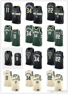 Womens Juventude MensMilwaukeeBucks11 Brook Lopez 34 GiannisAntetokounmpo 22 KhrisMiddleton personalizado Basketball Jerseys