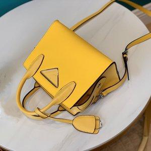 2020 top quality Fashion brand luxury shoulder bag designer handbags classic Saffiano cowhide logo litchi pattern small square bag luxury ha