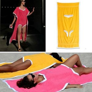 Towelkini Beach Changing Bathrobe Bath Towel Poncho Quick Dry Outdoor Sports Adult Swimsuit Swimming Towel RRA2815