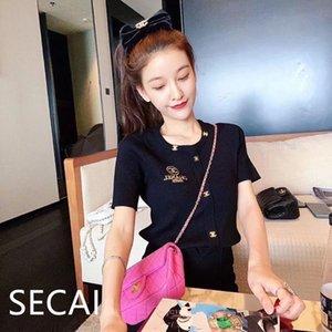 Progettare breve maglia giacca 2020 nuovo ricamo di estate versatile stile Ins manica corta T-shirt donna versatile