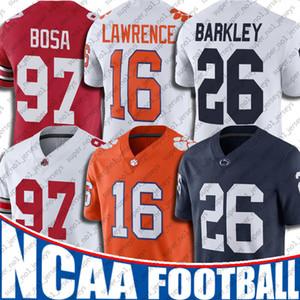 NCAA Penn State 26 Saquon Barkley Jersey Trevor Lawrence Jerseys Nick Bosa 7-23 Jimmy Garoppolo Todd Gurley II Aaron Donald Jerseys