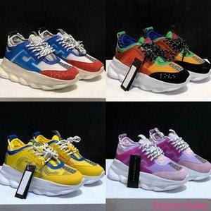 New Chain Reaction Luxury Designer Shoes Men Women 2019 Fashion Look District Medusa Ve rsaces des Chaussures Casual Shoe Zapatos size 36-45