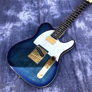 Пользовательские оптовые 2020 новый TL электрогитара, высокое качество твердого дерева кленовый гриф гитары с золотыми аппаратных, настроить