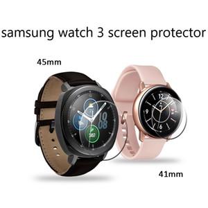 Samsung akıllı saat 3 ekran filmi temperli cam ark kenarı açık 2.5D 41mm 45mm tam kapak tutkal ekran koruyucusu