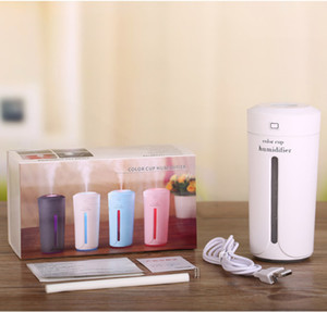 Mini Ultrasonic Air Humidifier Aroma Essential Oil Diffuser Aromatherapy Mist Maker 7Colors Portable USB Humidifiers for Home Car Bedroom