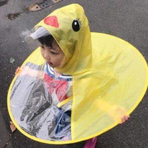 7qx4q Tiktok детский НЛО Tiktok Дети пончо дождевик маленькая желтая утка детский сад брезент ребенка НЛО зонтик не одноразовые пончо