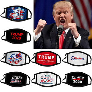 Livraison gratuite 19 types Impression 3D Trump 2020 Masque coupe-vent Coton bouche Masques enfants adultes américains Élection États-Unis Cyclisme Masque